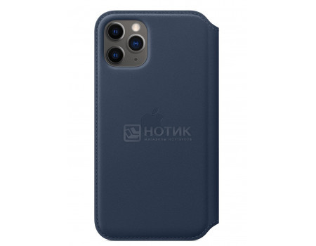 Чехол-книжка Apple Leather Folio Deep Sea Blue для iPhone 11 Pro MY1L2ZM/A, Кожа, Синий