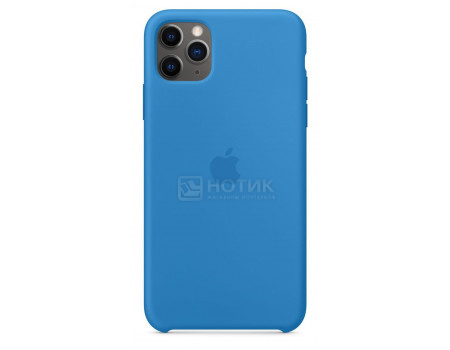 Чехол-накладка Apple Silicone Case Surf Blue для iPhone 11 Pro Max MY1J2ZM/A, Силикон, Синий