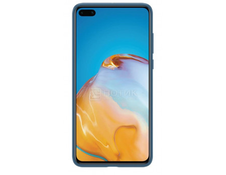 Чехол-накладка Huawei P40 Silicone Case Ink Blue для HUAWEI P40, Силикон, Синий, 51993721