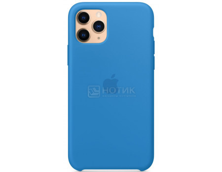 Чехол-накладка Apple Silicone Case Surf Blue для iPhone 11 Pro MY1F2ZM/A, Силикон, Синий