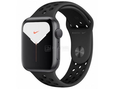 Смарт-часы Apple Watch Nike Series 5 Aluminium Case 40mm Space Grey Серый космос (Спортивный ремешок Антрацитовый/чёрный) MX3T2RU/A.