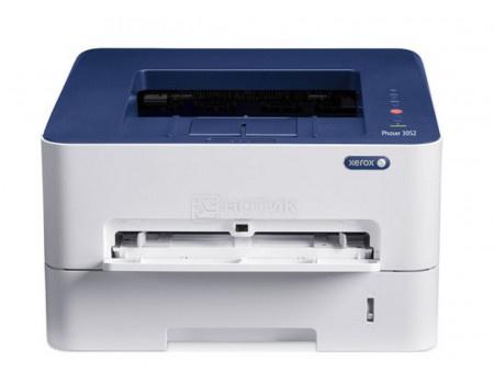 Принтер лазерный монохромный Xerox Phaser 3052V, A4, 26стр/мин, 256Мб, USB, WiFi, Белый/Синий 3052V_NI