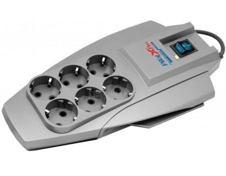 Сетевой фильтр ZIS Pilot X-Pro, 6 розеток, 1.8м, Серый, Pilot X-Pro 1.8M