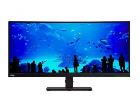 """Монитор 34"""" Lenovo ThinkVision T34w-20, UWQHD, VA, Curved, HDMI, DP, 1xUSB Type-C, 4xUSB 3.2, Черный 61F3GAT1EU"""