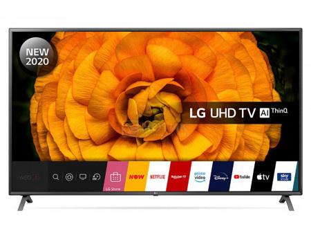 Телевизор LG 75 LED, UHD, IPS. Smart TV (webOS), Звук (20 Вт (2x10 Вт)), 4xHDMI, 3xUSB, 1xRJ-45, Серебристый, 75UN85006LA