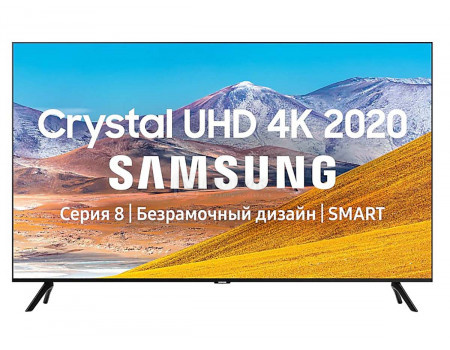 Телевизор Samsung 75 UHD Smart TV Звук (20 Вт (2x10 Вт)) 3xHDMI 2xUSB 1xRJ-45 PQI 2100. Черный UE75TU8000UXRU.