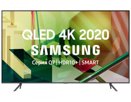 Телевизор Samsung 75 UHD, QLED, Smart TV, Звук (20 Вт (2x10 Вт) 4xHDMI, 2xUSB, 1xRJ-45, PQI 3400, Темно-Серый QE75Q70TAUXRU фото