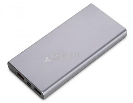 Внешний аккумулятор Accesstyle Charcoal II 20MPQ, 10000 мАч, 3А +2А, 2xUSB, USB Type-C, Серый, Charcoal II 10MPQP
