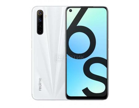 "Смартфон Realme 6 RMX2002 6/128Gb Lunar White (Android 10.0/Helio G90T 2000MHz/6.50"" 2400x1080/6144Mb/128Gb/4G LTE ) [5985989]"