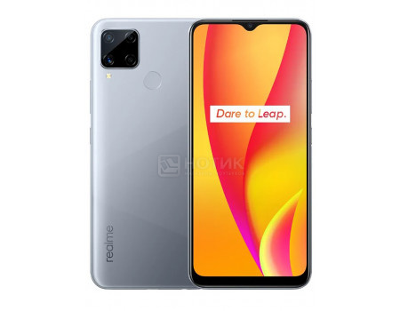 """Смартфон Realme C15 RMX2180 64Gb Seagull Silver (Android 10.0/Helio G35 2300MHz/6.50"""" 1600x720/4096Mb/64Gb/4G LTE ) [5981511]"""