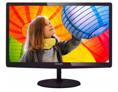 """Монитор 23,6"""" Philips 247E6QDAD, FHD, IPS, VGA, DVI, HDMI, Черный 247E6QDAD/01"""