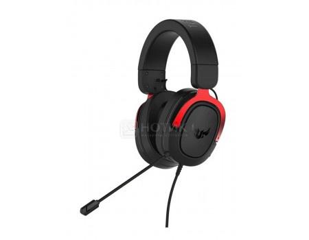 Гарнитура проводная ASUS TUF Gaming H3, Mini jack, Черный/Красный 90YH02AR-B1UA00