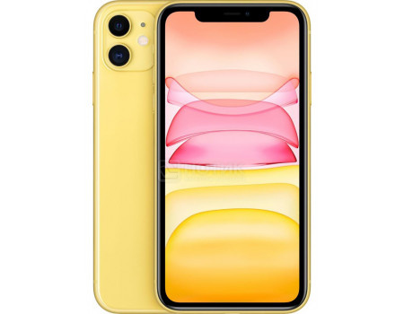 "Смартфон Apple iPhone 11 256Gb Yellow (iOS 14/A13 Bionic 2650MHz/6.10"" 1792x828/4096Mb/256Gb/4G LTE ) [MHDT3RU/A]"