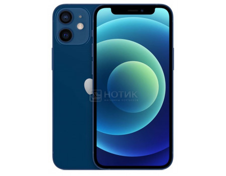 "Смартфон Apple iPhone 12 mini 64Gb Blue (iOS 14/A14 Bionic 2990MHz/5.40"" 2340x1080/4096Mb/64Gb/5G ) [MGE13RU/A]"