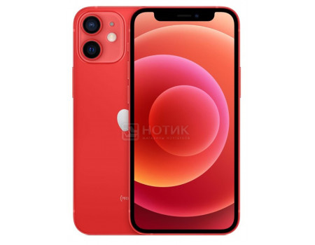 "Смартфон Apple iPhone 12 mini 128Gb Red (iOS 14/A14 Bionic 2990MHz/5.40"" 2340x1080/4096Mb/128Gb/5G ) [MGE53RU/A]"