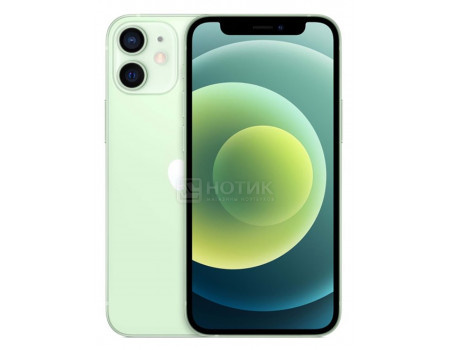 "Смартфон Apple iPhone 12 128Gb Green (iOS 14/A14 Bionic 2990MHz/6.10"" 2532x1170/4096Mb/128Gb/5G ) [MGJF3RU/A]"