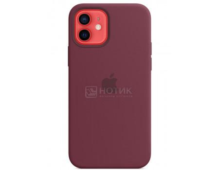 Чехол-накладка Apple Silicone Case with MagSafe Plum для iPhone 12/ 12 Pro MHL23ZE/A Силикон Сливовый.