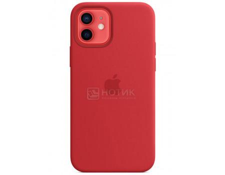 Чехол-накладка Apple Silicone Case with MagSafe Red для iPhone 12/ 12 Pro MHL63ZE/A Силикон Красный.