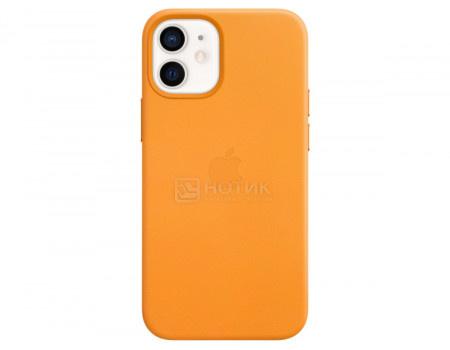 Чехол-накладка Apple Leather Case with MagSafe California Poppy для iPhone 12 mini MHK63ZE/A Кожа Оранжевый.