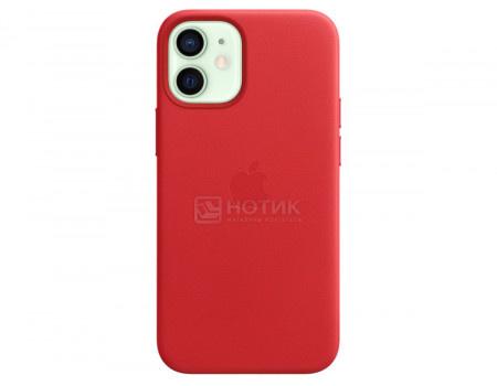 Чехол-накладка Apple Leather Case with MagSafe Red для iPhone 12 mini MHK73ZE/A Кожа Красный.