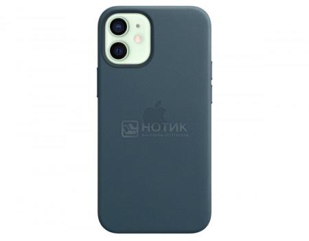 Чехол-накладка Apple Leather Case with MagSafe Baltic Blue для iPhone 12 mini MHK83ZE/A Кожа Темно-синий.