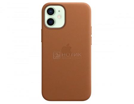 Чехол-накладка Apple Leather Case with MagSafe Saddle Brown для iPhone 12 mini MHK93ZE/A Кожа Коричневый.