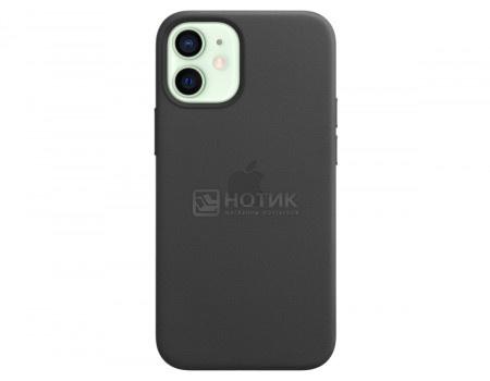 Чехол-накладка Apple Leather Case with MagSafe Black для iPhone 12 mini MHKA3ZE/A Кожа Черный.