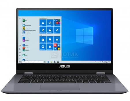 Ультрабук ASUS VivoBook Flip TP412FA-EC518T (14.00 IPS (LED)/ Pentium Dual Core 5405U 2300MHz/ 4096Mb/ SSD / Intel UHD Graphics 610 64Mb) MS Windows 10 Home (64-bit) [90NB0N31-M16590]