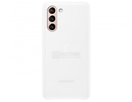 Чехол-накладка Samsung Smart LED Cover для смартфона Samsung Galaxy S21+ , Поликарбонат, Белый EF-KG996CWEGRU