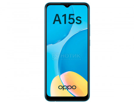 "Смартфон OPPO A15s 4/64Gb Blue (Android 10.0/MT6765 2300MHz/6.52"" 1600x720/4096Mb/64Gb/4G LTE ) [6944284676282]"