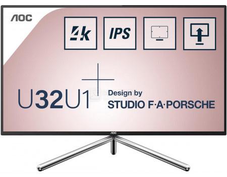 """Монитор 31,5"""" AOC U32U1, UHD, IPS, 2xHDMI, DP, USB Type-C, 4xUSB 3.1, Черный/Серебристый U32U1"""