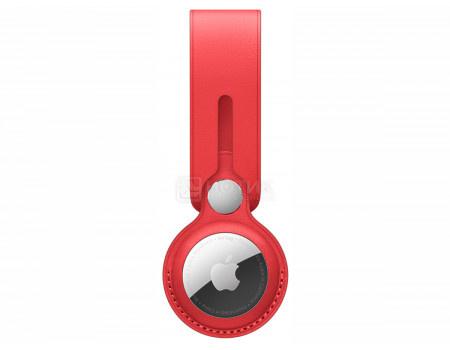 Чехол Apple AirTag Leather Loop Red, брелок-подвеска для AirTag MK0V3ZM/A, Кожа, Красный