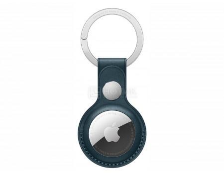 Чехол Apple AirTag Leather Key Ring Baltic Blue, брелок с кольцом для ключей для AirTag MHJ23ZM/A, Кожа, Cиний