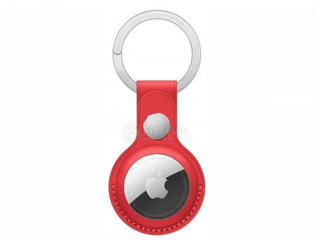 Чехол Apple AirTag Leather Key Ring Red, брелок с кольцом для ключей для AirTag MK103ZM/A, Кожа, Красный