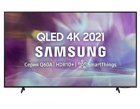 Телевизор Samsung 55 UHD, QLED, Smart TV, Звук (20 Вт (2x10 Вт) 3xHDMI, 2xUSB, 1xRJ-45, Черный QE55Q60AAUXRU