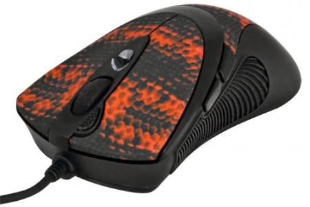 Мышь проводная A4Tech XL-740K, 3600 dpi, Черный/Красный