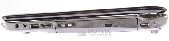 Ноутбук Asus N61JQ правая грань в закрытом состоянии