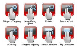 Тачпад имеет большую площадь и поддерживает работу несколькими пальцами